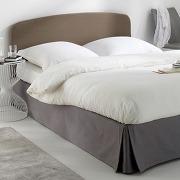 Housse pour tête de lit en bâchette pur coton, forme galbée marron - scenario