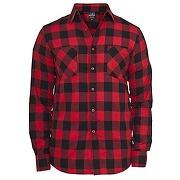 Chemise à carreaux homme noir / rouge (l)