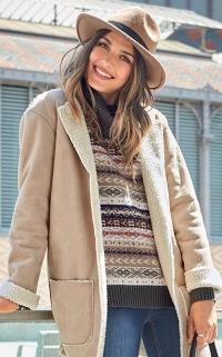 Peau lainée femme
