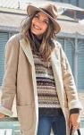 Manteau en peau lainée : j'adopte le look bobo chic !