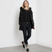Parka manches longues capuche noir - r edition