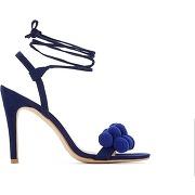 Soldes ! sandales talon haut détail pompons - feminin - bleu - r edition