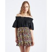 Soldes ! jupe falda ecbert imprimée fruits - feminin - noir - compania fantastica