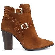 Boots samelli cuir camel pour femme