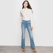 Soldes ! jean flare taille haute - feminin - bleu - vila