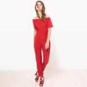 Soldes ! combinaison pantalon, épaules dénudées - feminin - rouge - mademoiselle r