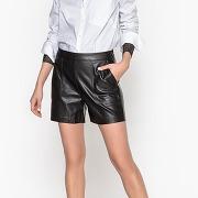 Soldes ! short simili cuir - feminin - noir - la redoute collections