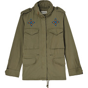 Parka courte perles vert denim & supply ralph lauren femme