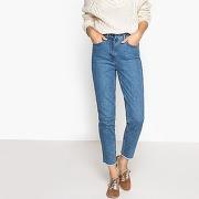 Soldes ! jean mom taille haute - feminin - bleu - la redoute collections