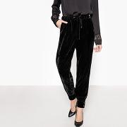 Soldes ! jogpant velours - feminin - noir - mademoiselle r