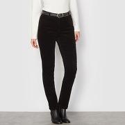 Soldes ! pantalon velours stretch - feminin - noir - anne weyburn