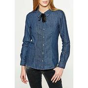 Chemise en jean vero moda vmvera bleu femme