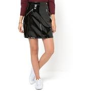 Soldes ! jupe trapèze vinyle - feminin - noir - mademoiselle r