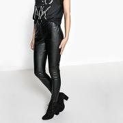 Soldes ! pantalon slim, simili cuir - feminin - noir - la redoute collections