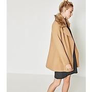 Le manteau en laine melangee camel - promod