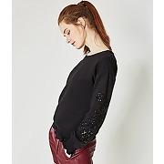 Sweat-shirt perle femme noir - promod