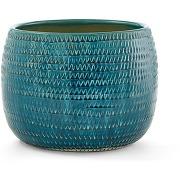 Cache-pot céramique Ø30 x h23 cm, joanis bleu