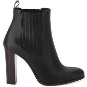 Boots cuir sili noir