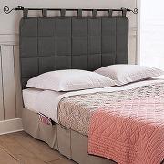 Tête de lit matelassée gris