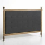 Tête de lit capitonnée h120 cm, toinette gris