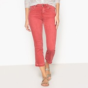 Jean cropped flare, taille normale, longueur 32 rose