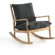 Rocking-chair lin, dilma gris anthracite
