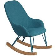 Rocking chair enfant turquoise - kidmeans - l 43 x l 65 x h 67