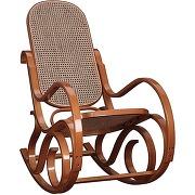 Rocking chair teinte miel - country - l 53,5 x l 92 x h 94 - neuf
