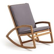Rocking chair de jardin ozenald gris