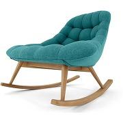 Kolton, rocking-chair, bleu minéral