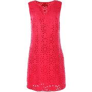 Derhy-femme-robe loire motifs fleurs fuchsia-t.s