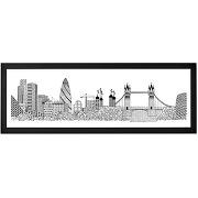 Tower bridge, par charlene mullen, 30 x 85 cm, cadre décoratif