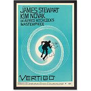 Vertigo, cadre décoratif bleu