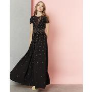 Manoush-femme-robe longue couronne noire-t.34