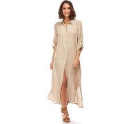 Maison du lin-femme-robe 100% lin eva beige-t.m/l
