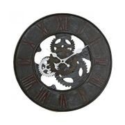 D co industriel mon int rieur chic et urbain pureshopping for Horloge murale style industriel