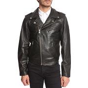 5f025af41740 épuisé Vestes en cuir schott nyc pour homme - perfecto en cuir noir