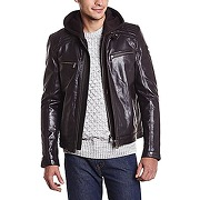 Redskins blake - veste en cuir - manches longues - homme - marron (brown) - small (taille fabricant: s)