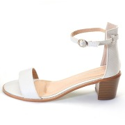 Sandales Talons Blanches Femme