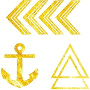 Tatouage éphémère gold mini x2 - dcer