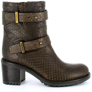 Bottines clea python marron