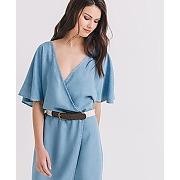 Robe en denim fluide femme bleu ciel - promod