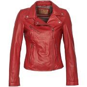 Vestes en cuir femmes oakwood 60958 rouge