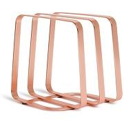 Porte serviettes design pulse cuivre métal umbra