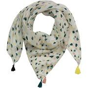 Naf naf foulard cœurs 100% soie off white