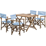 Ensemble de sièges de jardin bamboo (5 éléments) - bambou - marron, silva outdoor