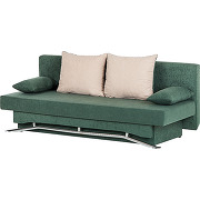 Canapé convertible flipster - microfibre verte, mooved