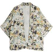 Veste kimono imprimé tropical galeries lafayette x virginie guarisco - vert - femme - galeries lafayette - tailles disponibles: 36/38,38/40,40/42
