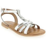 Sandales et nu-pieds les tropéziennes par m belarbi badiane blanc pour enfant fille en cuir