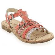 Sandales et nu-pieds ramdam by gbb bangkok rouge pour enfant fille en cuir - solde